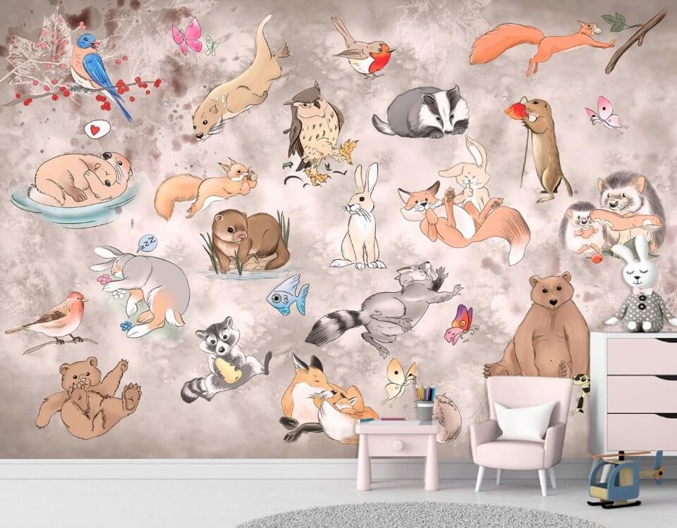 фотообои с животными в детскую