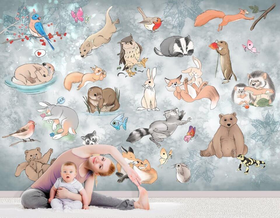 фотообои с животными +на стену