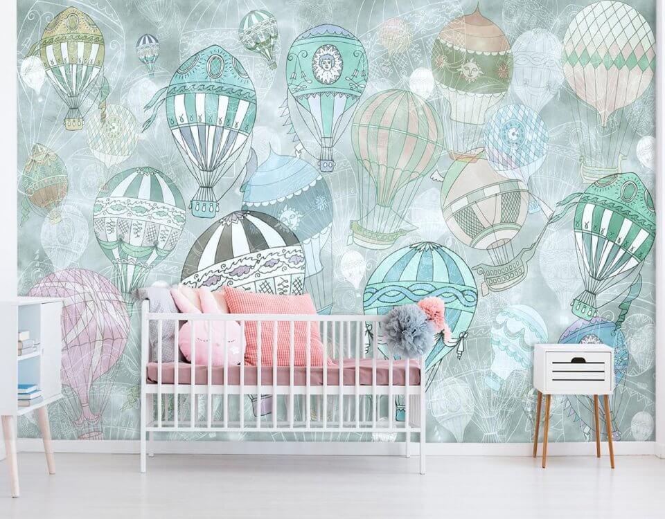 Фотообои воздушные шары красивые обои для детской комнаты