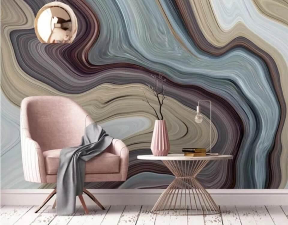 Фотообои обои абстракция разноцветные волны