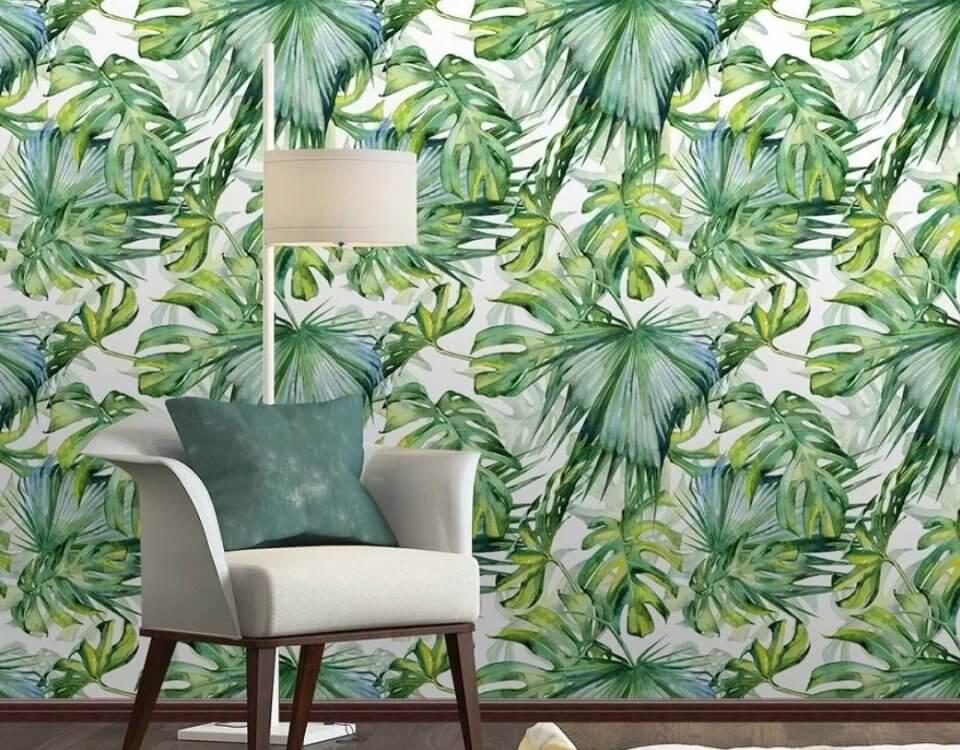 легкий летний принт из тропических листьев добавит прохладу и легкость в ваш интерьер. Бесшовные фактуры и латексная печать для вашего интерьера. Доставка по миру
