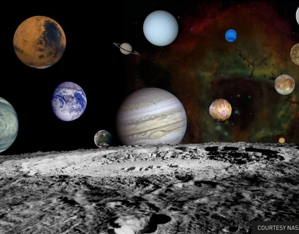 фреска космические планеты. Дизанерское панно с космическими планетами