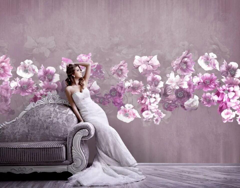 фотообои цветы +на стену +в спальню