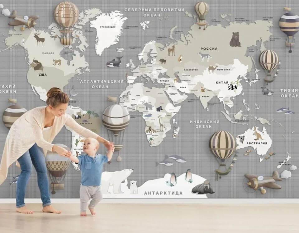 фотообои детскую комнату мальчику. Заказ по своим размерам. Натеральные флизелиновые материалы. Бережная доставка по миру.