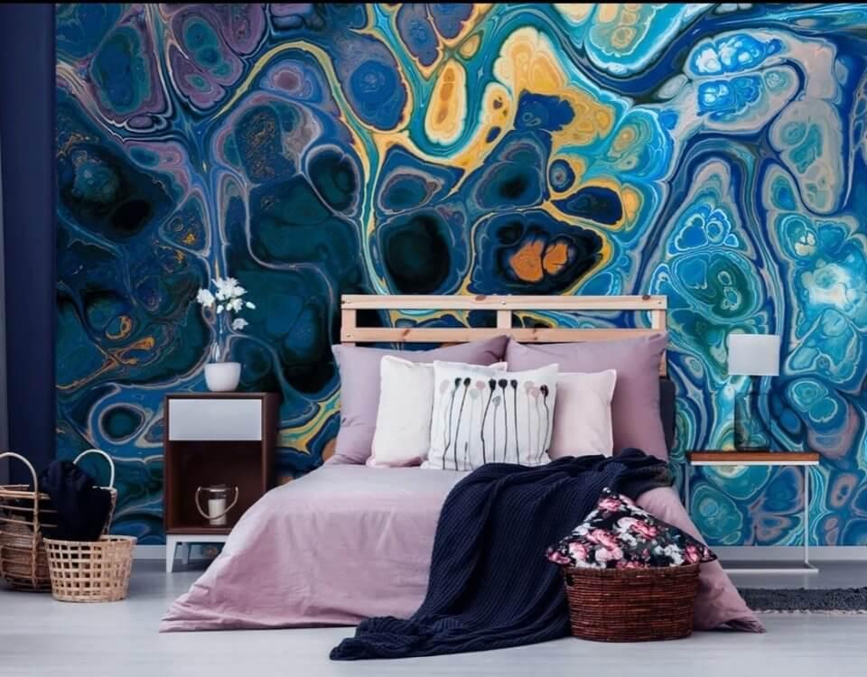 фреска на стену купить. фотообои абстракция в интерьере. Любой размер. Цветопроба в подарок. Бесшовные материалы. Доставка