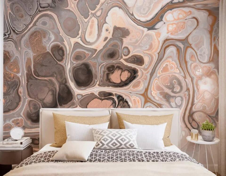 оформление стен +в спальне