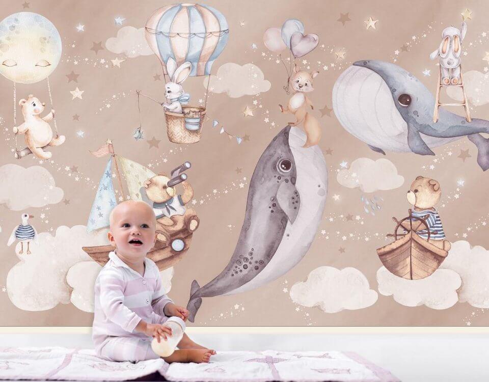 товары для детской комнаты. купить обои фрески. фотообои с доставкой