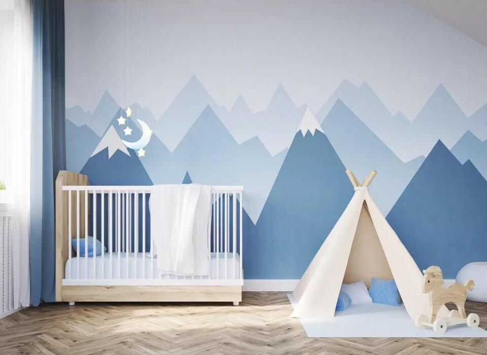 скандинавские горы обои детские под любой размер вашего проекта. Латексная печать на бесшовных или рулонных материалах. Под ваш бюджет. Доставка