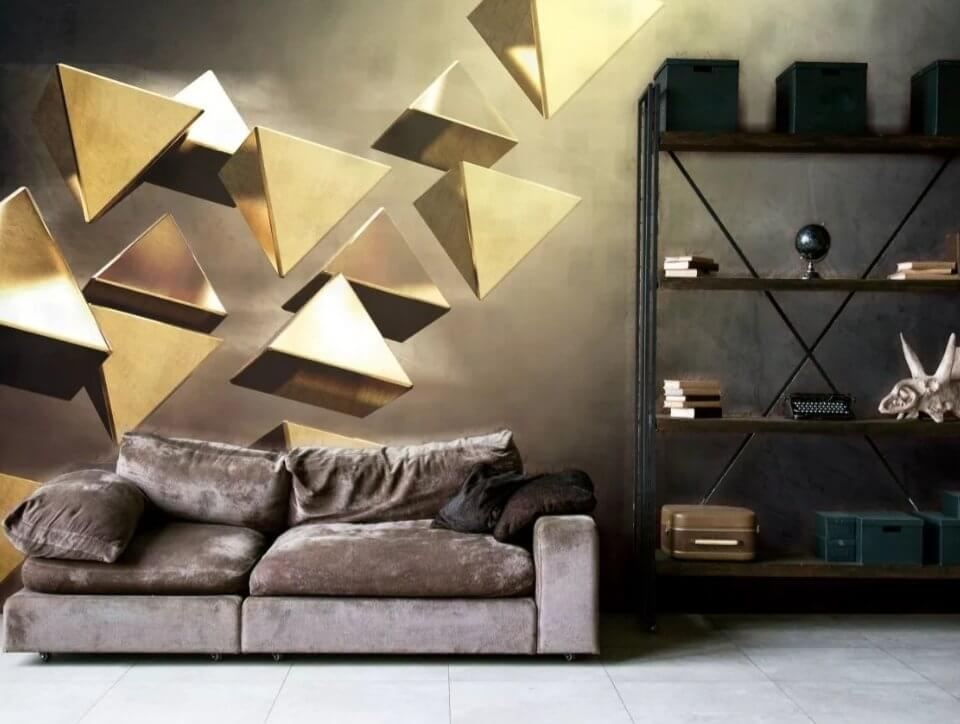 золотые фотообои купить на Потале дорогие фрески на золоте