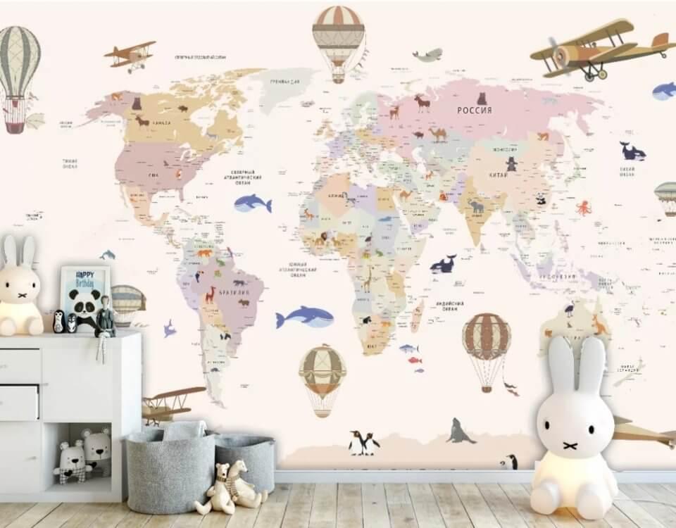 карта мира фреска. Каталог карт на сайте. Подбор и отрисовка карт под ваш проект. ЭКО печать. Доставка по миру