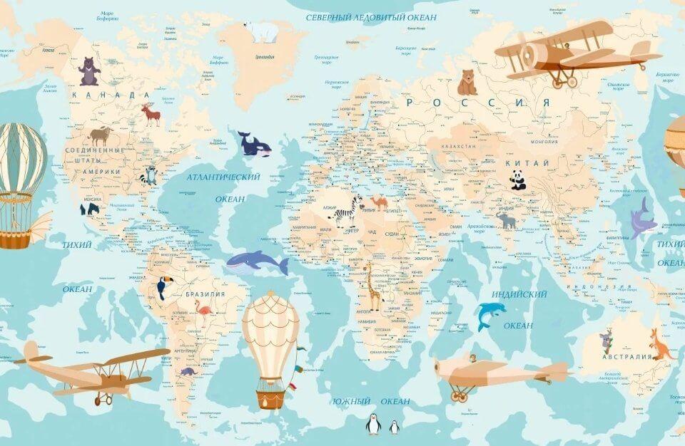 карта мира +на стену большая купить астрахань. Большой каталог карт на нашем сайте. Латексная печать. Доставка
