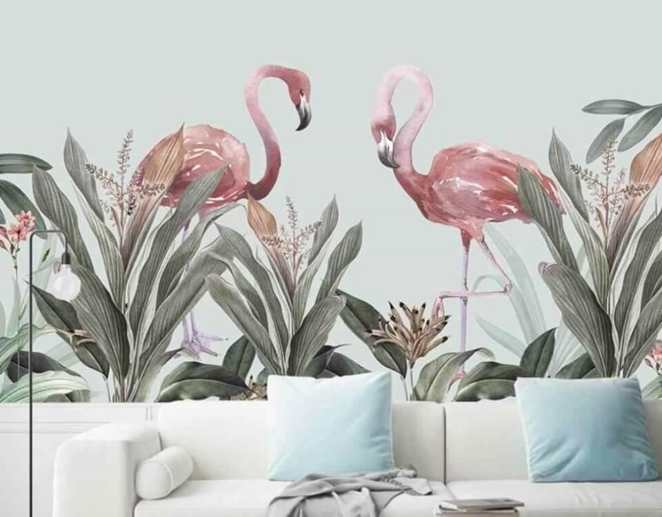 фотообои фламинго. фотообои фламинго +в интерьере