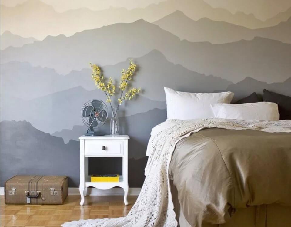 фреска горы. фотообои горы на стену. фотообои с доставкой
