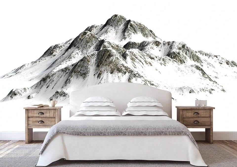 фрески горы. фотообои горы +на стену. фотообои скандинавские горы