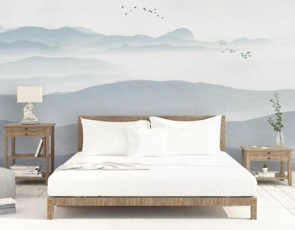 фреска горы +на стене