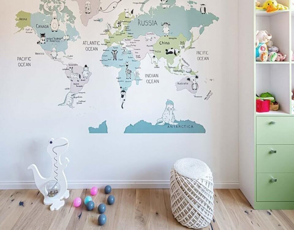 детские фотообои купить нижний новгород. фотообои карта мира детская купить