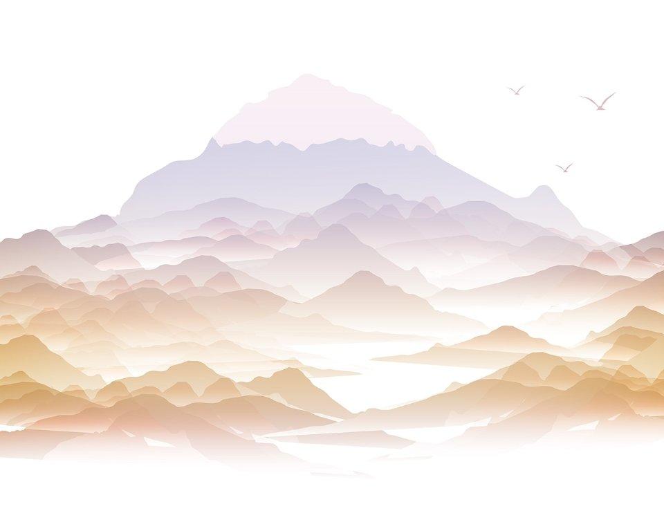 фотообои детские горы. Любая цветовая гамма. Печать под ваш размер. Красивые обои с горами. Доставка по миру