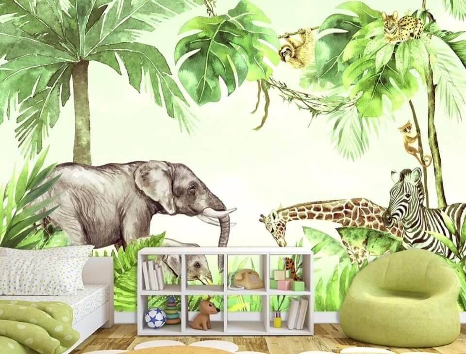 фотообои детские джунгли