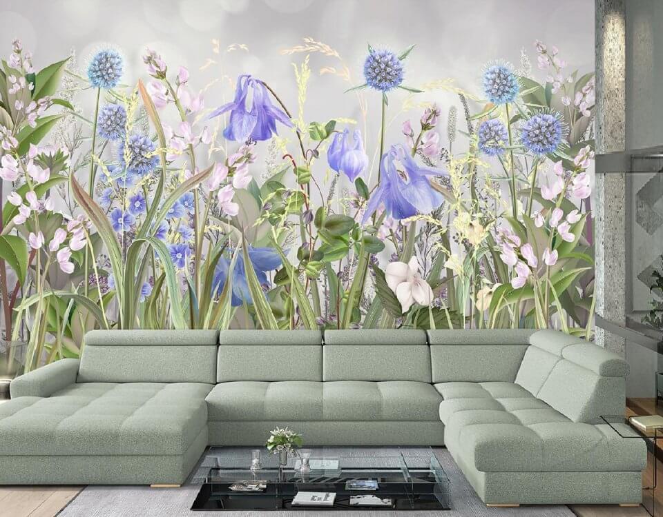 фреска цветы