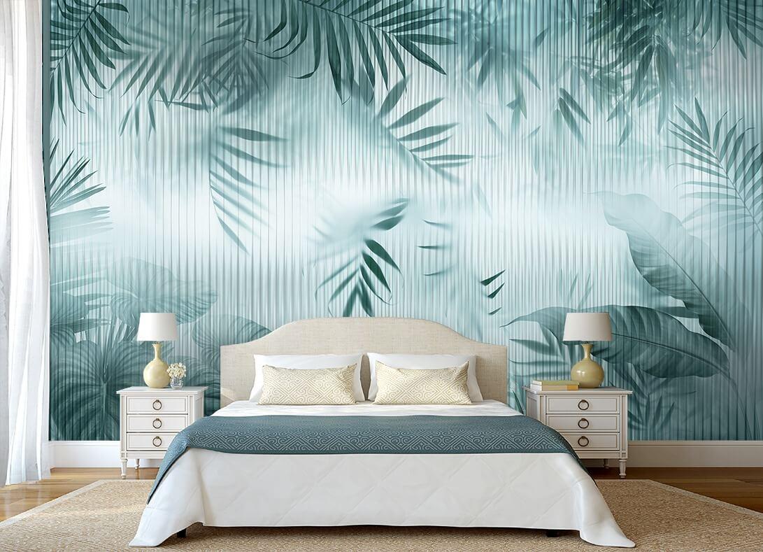 фотообои пальмовые листья. купить обои фрески.интернет магазин фотообоев с доставкой