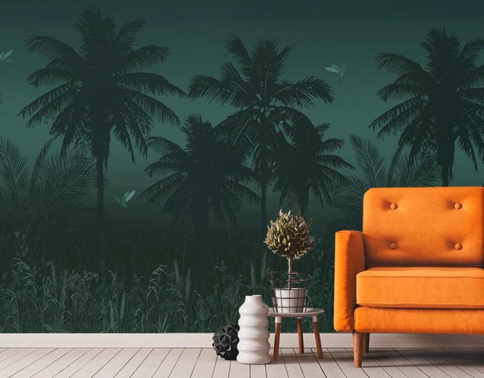 фотообои пальмы. купить фреску на стену в москве