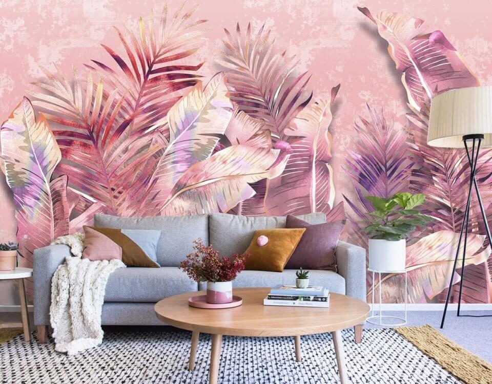 фреска +с банановыми листьями