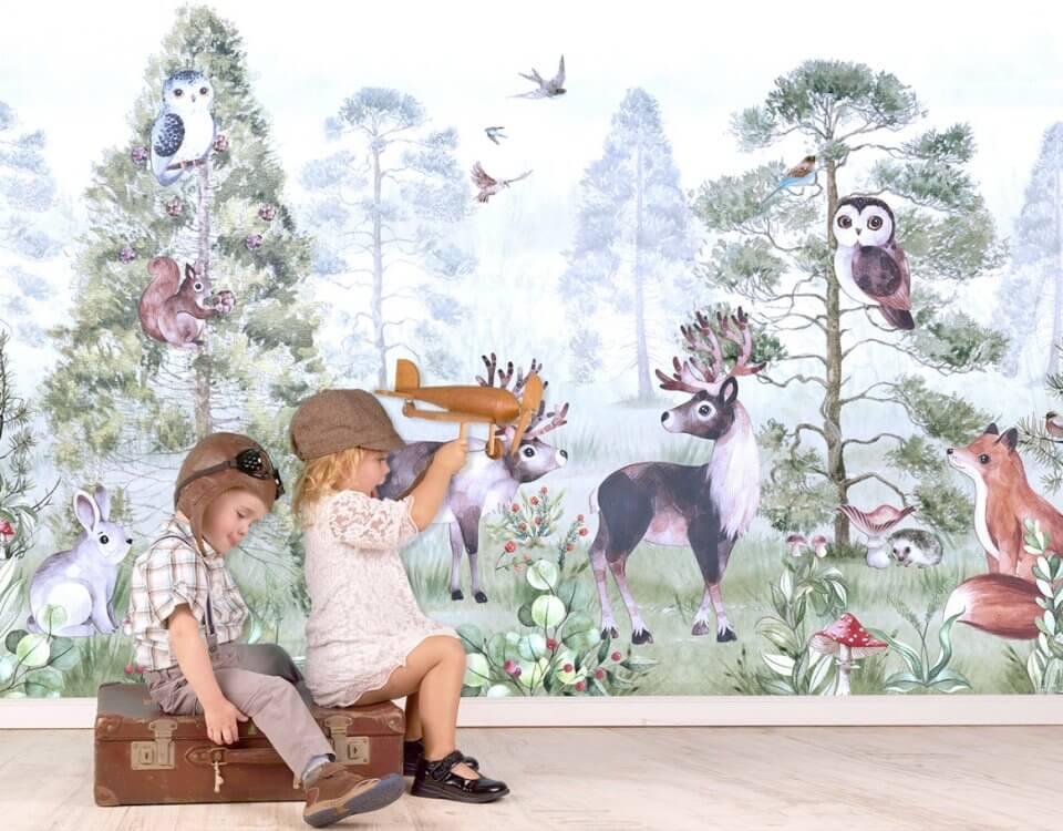 фотообои детские лес