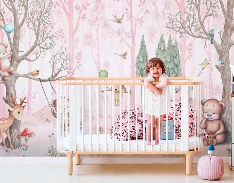детские фотообои сказочный лес