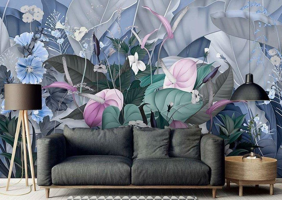 цветочная композиция на стену обои с цветами красивые цветы необычные