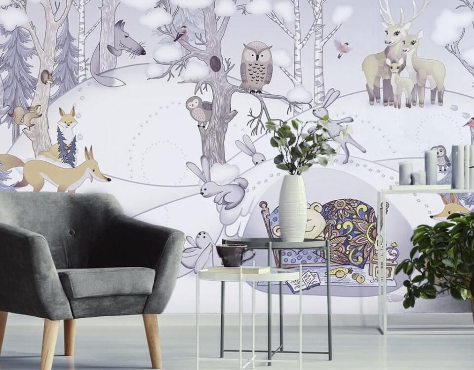 фрески для детской печать по своим размерам. детские сказочные принты