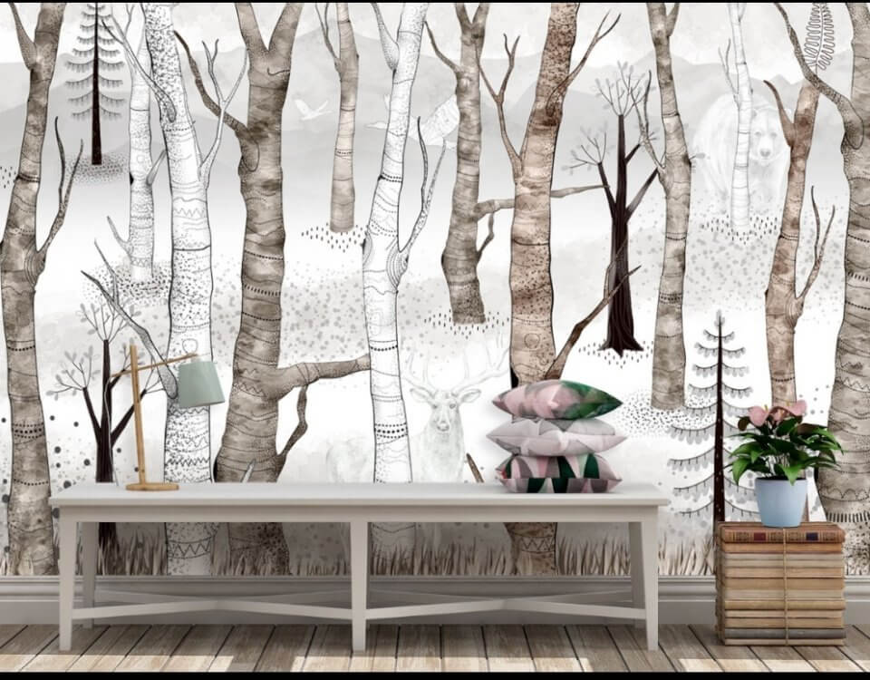 фотообои зимний сказочный лес