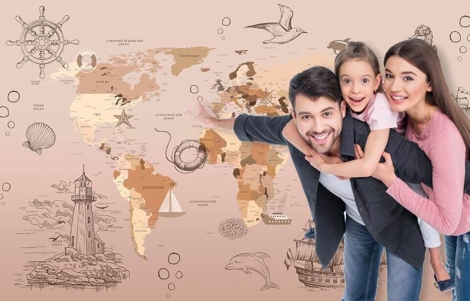 детские фотообои карты. географическая карта в детскую. необычная карта мира