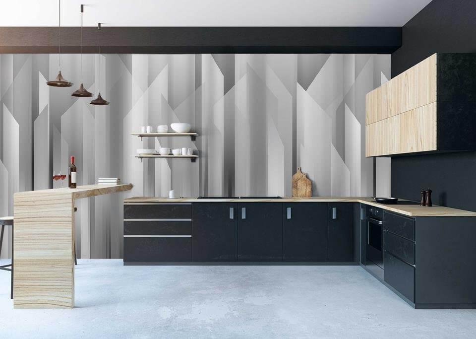 акцентная стена +на кухне