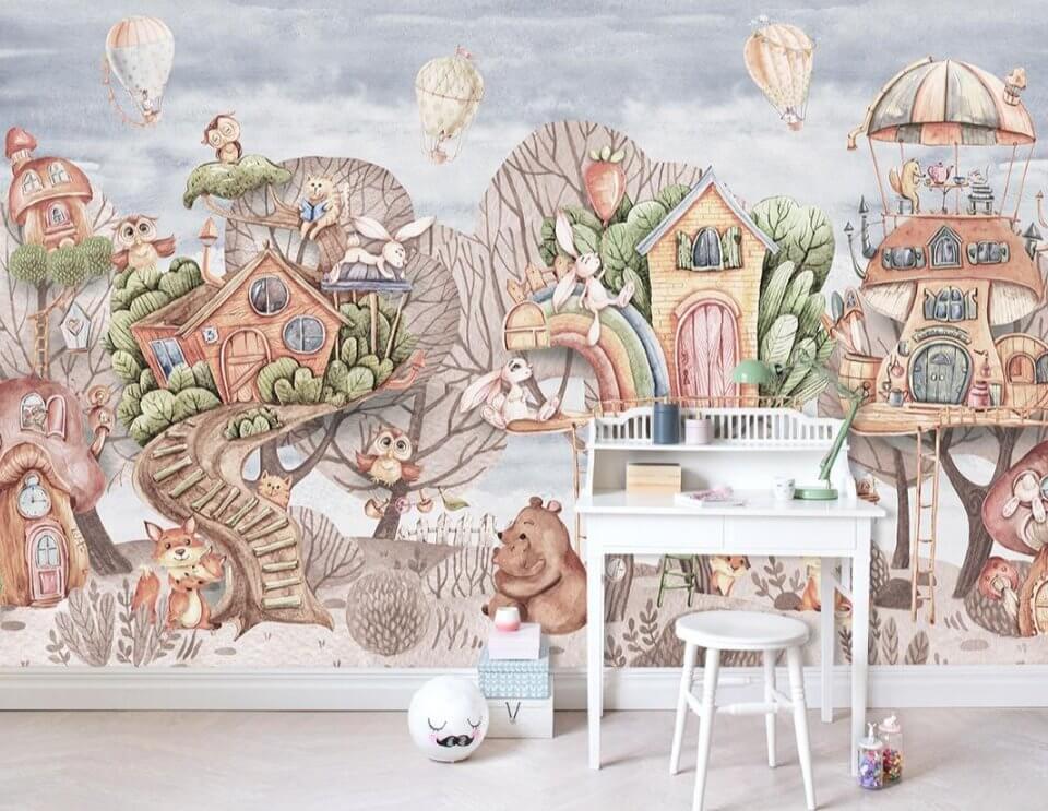 фотообои сказка. обои в детскую. фреска на стену
