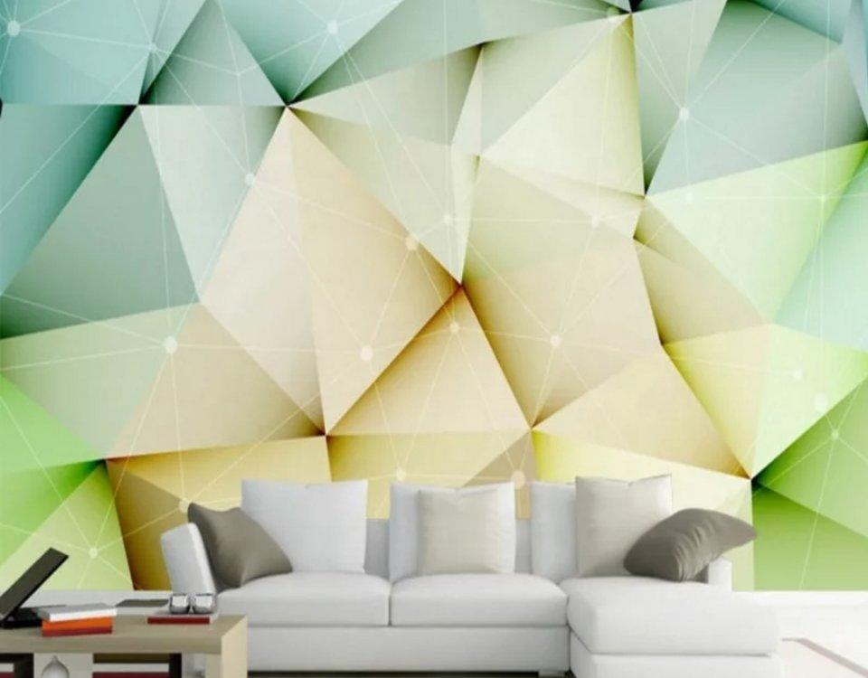 фотообои треугольник на светлом фоне