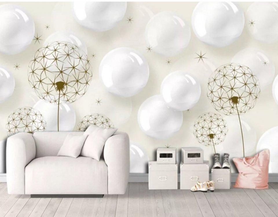 белые шары сфера обои купить