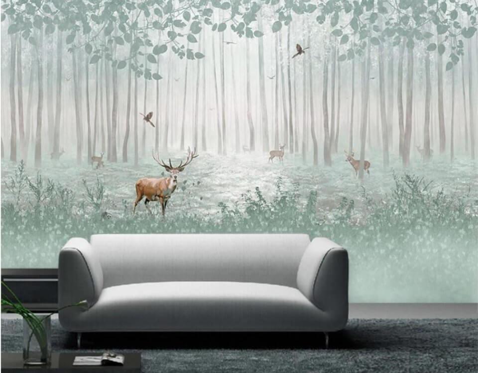 фреска с оленями