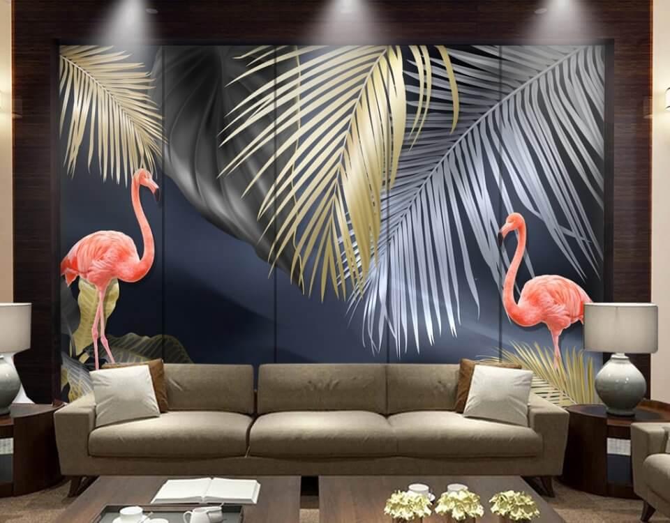 фотообои с фламинго купить