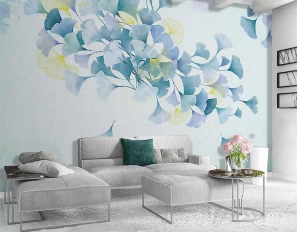фотообои нежные цветы на стену купить