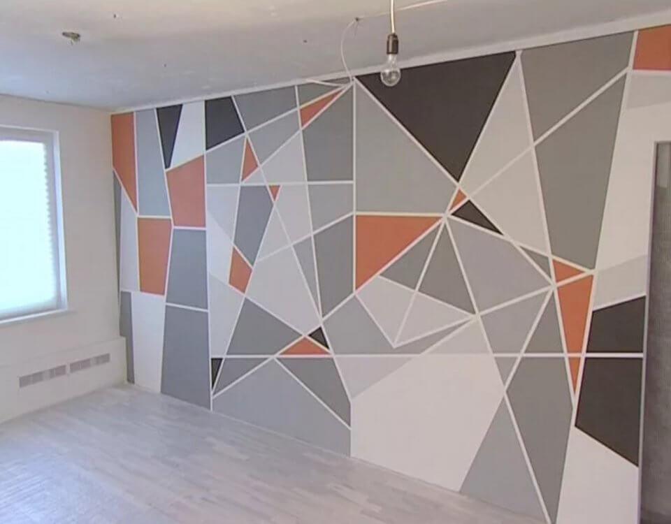 фотообои купить с геометрией на стену яркая геометрия обои на стену