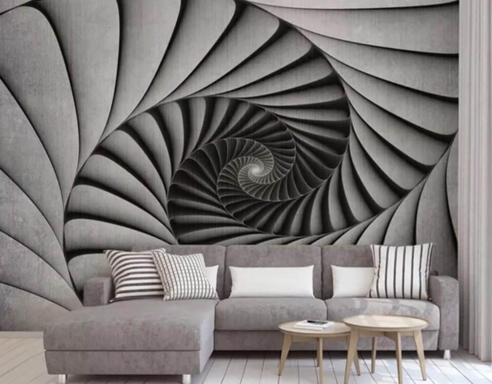 фотообои абстракция зигзаги тоннель купить по своим размерам печать ЭКО