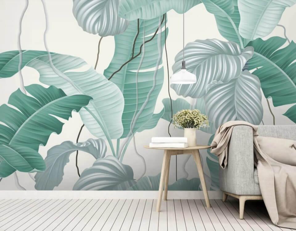 фотообои тропические листья купить по своим размерам