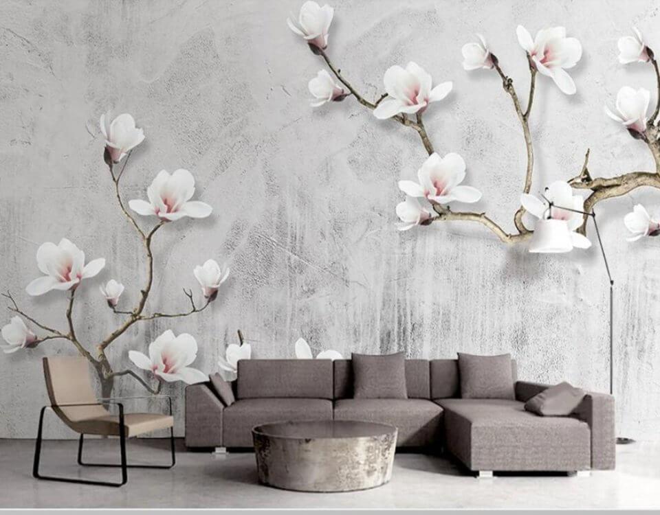 купить фреска цветы