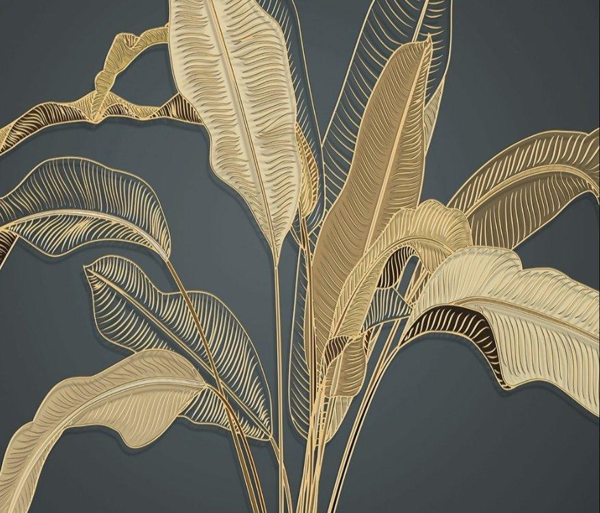 фреска банановые листья