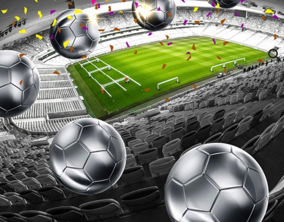фотообои спорт мяч футбольное поле необычные фотообои для подростка спортивные принты для стен с печатью по своим размерам