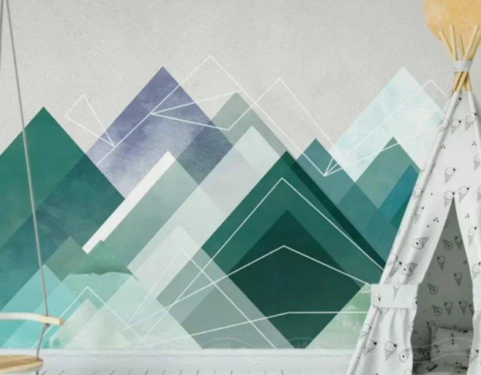 фреска горы купить. каталог фрески горы на стену. латексная ЭКО печать фрески ручной работы