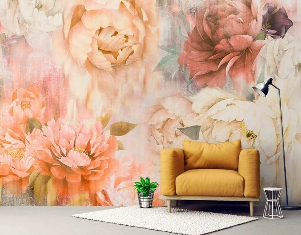 фотообои пионы красивые цветы купить на стену