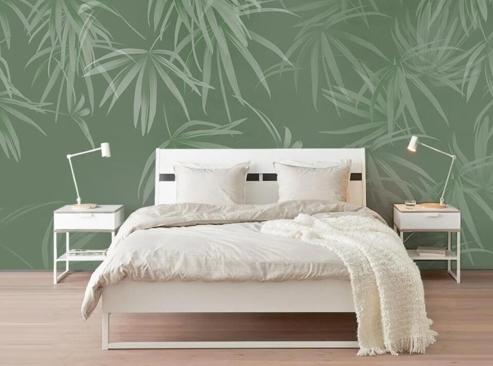 фреска на стену купить. фотообои зеленый фон интерьерная печать фотообои на стену