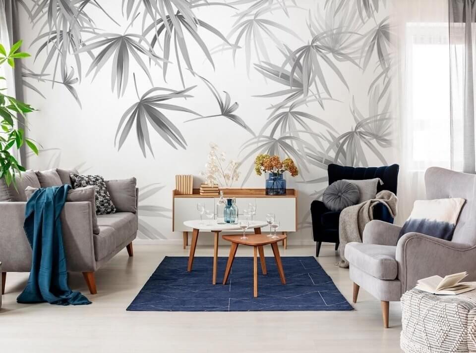 фреска на стену купить. белые фотообои с ветвями фотообои ветки необычные обои для стен лофт стиль