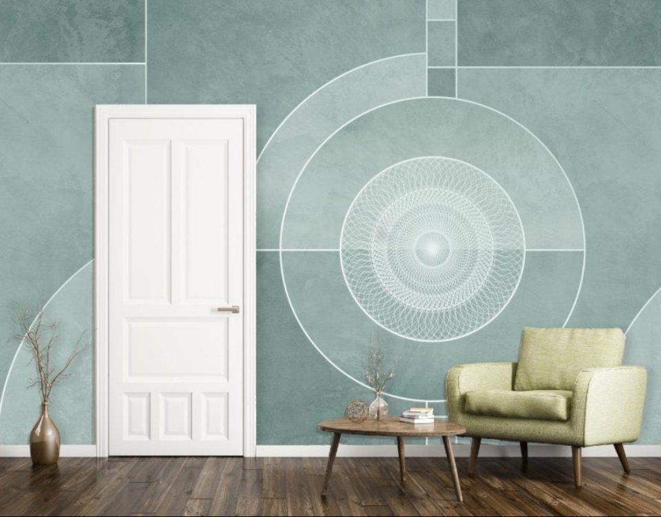 абстракция геометрия на стенах